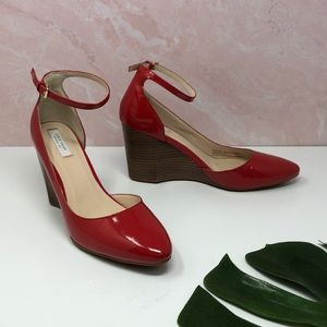 Cole Haan Lacey Ankle Strap Wedge Goji Berry 7B G5